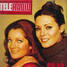 Coleccionismo de Revista Teleprograma: REVISTA TELE RADIO Nº 892, PILAR Y MARIA, PIPI CALZASLARGAS, MASH. Lote 205777658