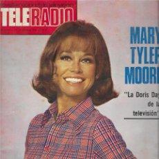 Coleccionismo de Revista Teleprograma: REVISTA TELE RADIO Nº 876, MARY TYLER MOORE, SUSPIROS DE ESPAÑA, MANOLO SUMMERS, MIGUEL RIOS. Lote 205779233