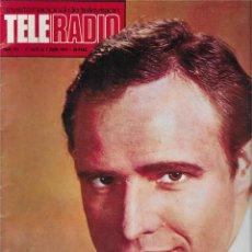 Coleccionismo de Revista Teleprograma: REVISTA TELE RADIO Nº 857, MARLON BRANDO, CHRISTOPHER LEE, MARI TRINI. Lote 205887907