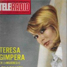 Coleccionismo de Revista Teleprograma: REVISTA TELE RADIO Nº 874, TERESA GIMPERA, SOFIA LOREN Y RICHARD BURTON. Lote 205895113