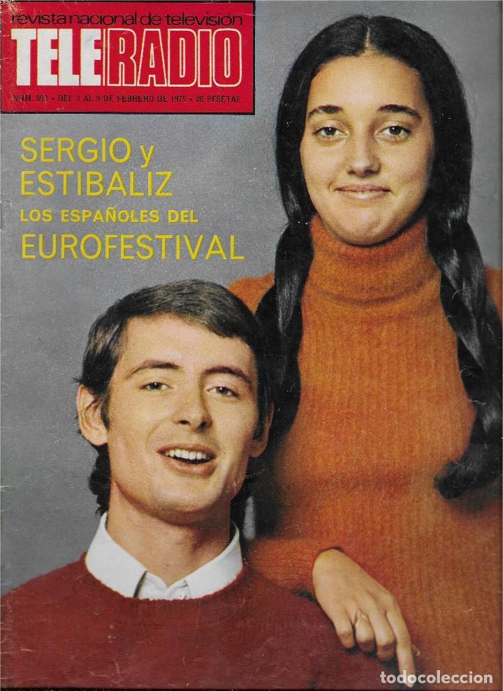 REVISTA TELE RADIO Nº 893, SERGIO Y ESTIBALIZ, JOSE LUIS LOPEZ VAZQUEZ, DICK VAN DYKE (Coleccionismo - Revistas y Periódicos Modernos (a partir de 1.940) - Revista TP ( Teleprograma ))