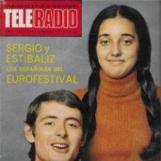 Coleccionismo de Revista Teleprograma: REVISTA TELE RADIO Nº 893, SERGIO Y ESTIBALIZ, JOSE LUIS LOPEZ VAZQUEZ, DICK VAN DYKE. Lote 205896450