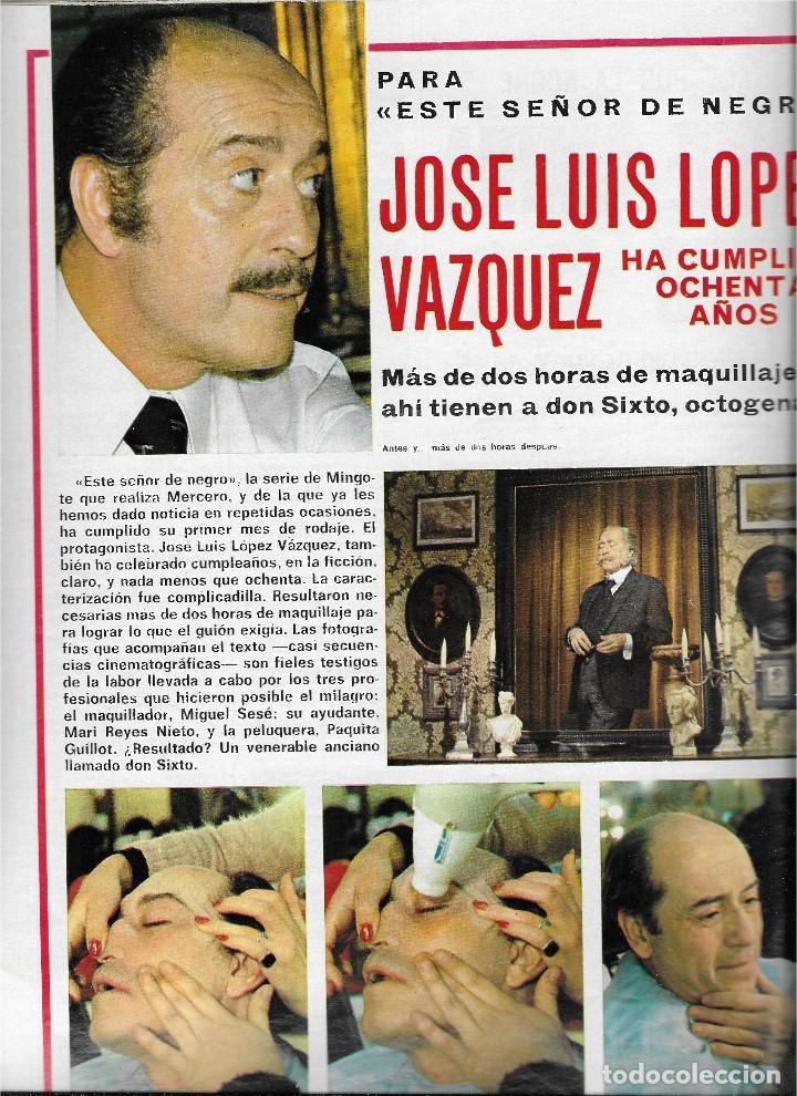 Coleccionismo de Revista Teleprograma: REVISTA TELE RADIO Nº 893, SERGIO Y ESTIBALIZ, JOSE LUIS LOPEZ VAZQUEZ, DICK VAN DYKE - Foto 2 - 205896450