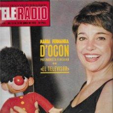 Coleccionismo de Revista Teleprograma: REVISTA TELE RADIO Nº 859, MARIA FERNANDA D´OCON, ROGER MOORE, TERESA RABAL. Lote 205898597