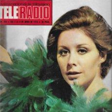 Coleccionismo de Revista Teleprograma: REVISTA TELE RADIO Nº 858, FIORELLA FALTOYANO, INGMAR BERGMAN, AMPARA BARO, ROMY SCHNEIDER. Lote 206215117