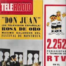 Coleccionismo de Revista Teleprograma: REVISTA TELE RADIO Nº 856, MUNDIAL DE FUTBOL 1974, CIRCO TVE, OMAR SHARIF, SALOME. Lote 206313242