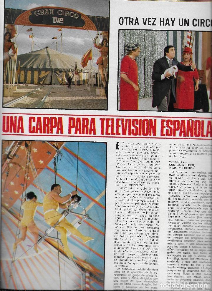 Coleccionismo de Revista Teleprograma: REVISTA TELE RADIO Nº 856, MUNDIAL DE FUTBOL 1974, CIRCO TVE, OMAR SHARIF, SALOME - Foto 3 - 206313242
