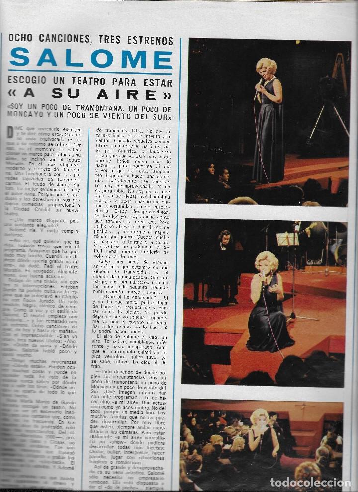 Coleccionismo de Revista Teleprograma: REVISTA TELE RADIO Nº 856, MUNDIAL DE FUTBOL 1974, CIRCO TVE, OMAR SHARIF, SALOME - Foto 5 - 206313242