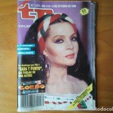 Coleccionismo de Revista Teleprograma: REVISTA TP TELEPROGRAMA CON SARA MONTIEL NUMERO 1279 OCTUBRE 1990 SUBASTA EBAY. Lote 206333328