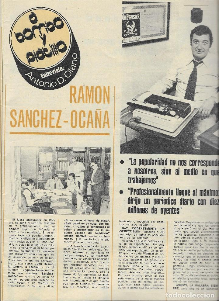 Coleccionismo de Revista Teleprograma: REVISTA TELE RADIO Nº 916,ROSA MARIA MATEO, RAMON SANCHEZ-OCAÑA, JEAN PAUL BELMONDO - Foto 2 - 206520021