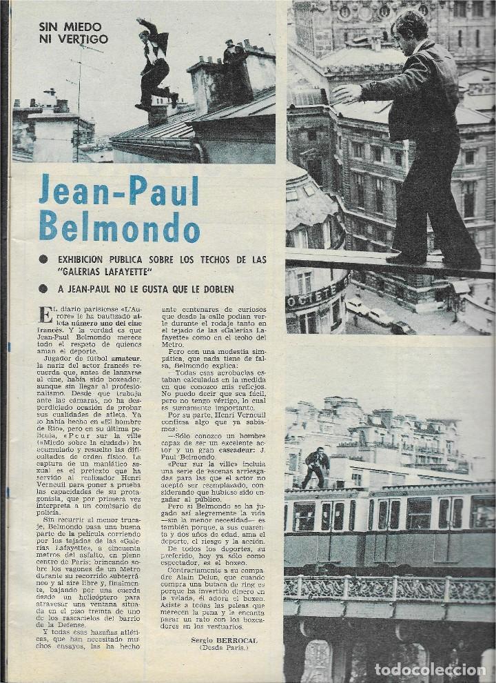 Coleccionismo de Revista Teleprograma: REVISTA TELE RADIO Nº 916,ROSA MARIA MATEO, RAMON SANCHEZ-OCAÑA, JEAN PAUL BELMONDO - Foto 3 - 206520021