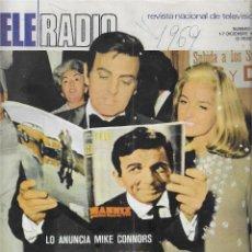 Coleccionismo de Revista Teleprograma: REVISTA TELE RADIO Nº 623,DICIEMBRE 1969, MANNIX, MASSIEL, MIGUEL DE LA CUADRA SALCEDO, JOSE ITURBI. Lote 207204188