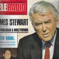 Coleccionismo de Revista Teleprograma: REVISTA TELE RADIO Nº 828, JAMES STEWART, TERESA RABAL, LOS MUÑECOS DE MARY CARMEN. Lote 207209872