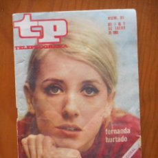Coleccionismo de Revista Teleprograma: TP TELEPROGRAMA Nº 91. ENERO 1968. FERNANDA HURTADO. Lote 207330806