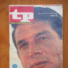 Coleccionismo de Revista Teleprograma: TP TELEPROGRAMA Nº 28. OCTUBRE 1966. GENE BARRY, 'EL AGENTE BURKE'. MUY DIFÍCIL. Lote 207331385