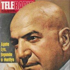 "Coleccionismo de Revista Teleprograma: REVISTA TELE RADIO Nº 914, TELLY SAVALAS "" KOJAK"", AGATA LYS, LABELLE. Lote 207700176"