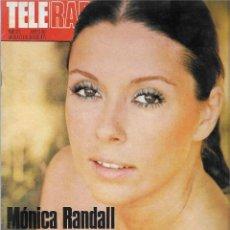Coleccionismo de Revista Teleprograma: REVISTA TELE RADIO Nº 921,MONICA RANDALL, XAVIER CUGAT, JERRY LEWIS. Lote 207701313