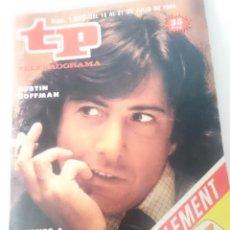 Coleccionismo de Revista Teleprograma: TP TELEPROGRAMA N 1006 DEL 9 AL 15 JULIO 1985 -PERROS DE PAJA. Lote 208155065