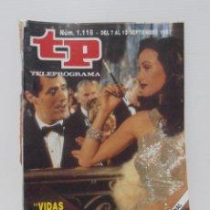 Coleccionismo de Revista Teleprograma: TP TELEPROGRAMA N 1118 DEL 7 AL 13 SEPTIEMBRE DE 1987 - VIDAS CRUZADAS. Lote 208155368
