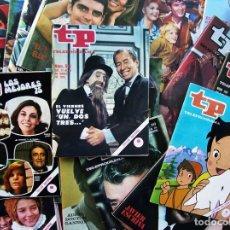 Colecionismo da Revista Teleprograma: LOTE DE 110 TP DE LOS AÑOS 60 Y 70. BUEN ESTADO. 110 REVISTAS TELEPROGRAMA.. Lote 208249948