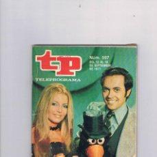 Coleccionismo de Revista Teleprograma: TELEPROGRAMA NUMERO 597 SEPTIEMBRE 1977 MUSIQUEANDO JOSE LUIS MORENO Y ROCKEFELLER. Lote 209367225