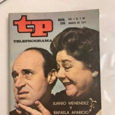Coleccionismo de Revista Teleprograma: TELPROGRAMAS 256. Lote 218158132