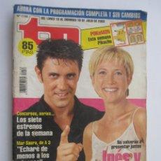 Coleccionismo de Revista Teleprograma: REVISTA TP TELEPROGRAMA Nº 1788 DE JULIO 2000 INÉS BALLESTER Y LIBORIO GARCÍA. Lote 219414615
