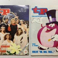 Coleccionismo de Revista Teleprograma: LOTE REVISTA TP TELEPROGRAMA 940-970 CONCURSO UN DOS TRES. Lote 221562712