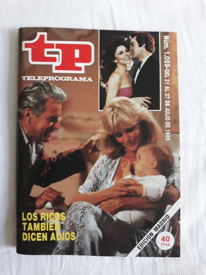 TP TELEPROGRAMA N. 1059 LOS RICOS TAMBIÉN DICEN ADIÓS EDICIÓN MADRID CON GUÍA DE ESPECTÁCULOS (Coleccionismo - Revistas y Periódicos Modernos (a partir de 1.940) - Revista TP ( Teleprograma ))