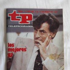 Coleccionismo de Revista Teleprograma: TP TELEPROGRAMA N. 1144 LOS MEJORES DEL 87 JESÚS HERMIDA EDICIÓN MADRID CON GUÍA DE ESPECTÁCULOS. Lote 222149528