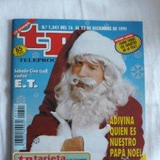 Coleccionismo de Revista Teleprograma: TP TELEPROGRAMA N. 1341 PAPA NOEL EMILIO ARAGON EDICIÓN MADRID CON GUÍA DE ESPECTÁCULOS. Lote 222152278