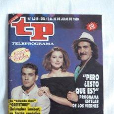 Coleccionismo de Revista Teleprograma: TP TELEPROGRAMA N. 1215 PERO ¿ ESTO QUÉ ES ? EDICIÓN MADRID CON GUÍA DE ESPECTÁCULOS 32 PÁGINAS MÁS. Lote 222154960