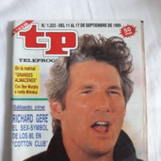 Coleccionismo de Revista Teleprograma: TP TELEPROGRAMA N. 1223 RICHARD GERE EDICIÓN MADRID CON GUÍA DE ESPECTÁCULOS DE 32 PÁGINAS MÁS. Lote 222155440