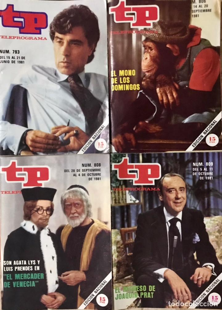 LOTE 5 REVISTAS TP 1981 - TELEPROGRAMA NUMERO 793 806 807 808 EL MONO DE LOS DOMINGOS PASATIEMPOS (Coleccionismo - Revistas y Periódicos Modernos (a partir de 1.940) - Revista TP ( Teleprograma ))