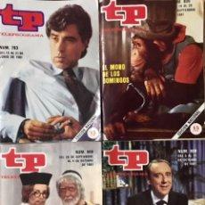 Coleccionismo de Revista Teleprograma: LOTE 5 REVISTAS TP 1981 - TELEPROGRAMA NUMERO 793 806 807 808 EL MONO DE LOS DOMINGOS PASATIEMPOS. Lote 225382763