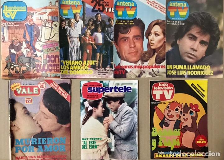 LOTE 7 REVISTAS 1980 1981 - ANTENA TV DON QUIJOTE SUPERTELE TODO TELEVISION VALE EL PUMA 26 70 71 74 (Coleccionismo - Revistas y Periódicos Modernos (a partir de 1.940) - Revista TP ( Teleprograma ))