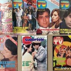 Coleccionismo de Revista Teleprograma: LOTE 7 REVISTAS 1980 1981 - ANTENA TV DON QUIJOTE SUPERTELE TODO TELEVISION VALE EL PUMA 26 70 71 74. Lote 225640053
