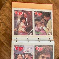 Coleccionismo de Revista Teleprograma: ALBUM CON 144 PORTADAS DE LA REVISTA TP (TELEPROGRAMA) - AÑOS 80. Lote 237637500