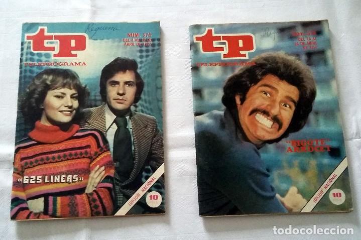 LOTE TP TELEPROGRAMA Nº 574 576 AÑO 1977 (Coleccionismo - Revistas y Periódicos Modernos (a partir de 1.940) - Revista TP ( Teleprograma ))