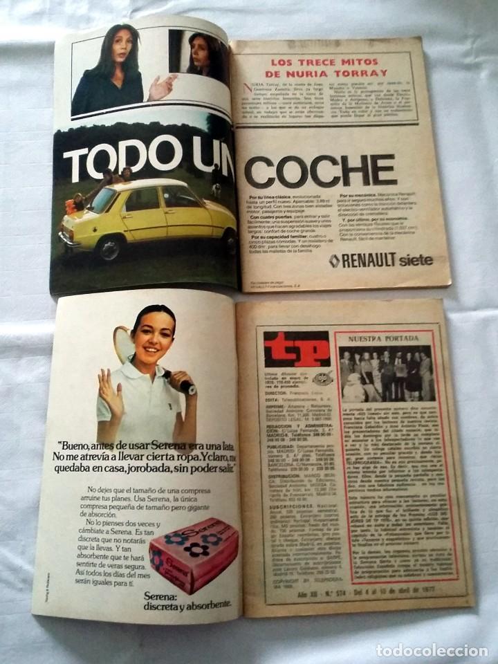 Coleccionismo de Revista Teleprograma: LOTE TP TELEPROGRAMA Nº 574 576 AÑO 1977 - Foto 2 - 239396265