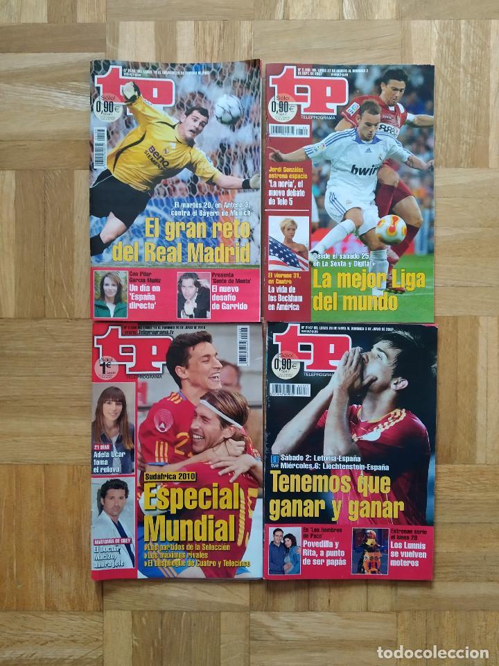 Coleccionismo de Revista Teleprograma: lote 10 revista tp teleprograma. futbol club barcelona. real madrid. seleccion española. ver fotos - Foto 2 - 241901090