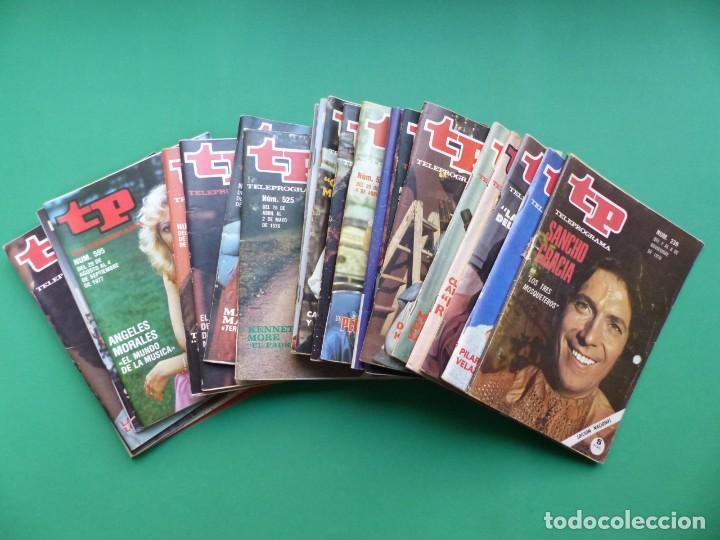 TP TELEPROGRAMA - 24 REVISTAS AÑOS 1970-1976-1977 - VER FOTOS ADICIONALES (Coleccionismo - Revistas y Periódicos Modernos (a partir de 1.940) - Revista TP ( Teleprograma ))