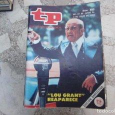 Coleccionismo de Revista Teleprograma: TP Nº 899, 1983, LOU GRANT REAPARECE. Lote 243996835