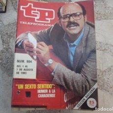 Coleccionismo de Revista Teleprograma: TP Nº 904, 1983, UN SEXTO SENTIDO POR LOUIS DEL GRANDE. Lote 243999305