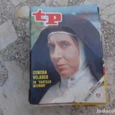 Coleccionismo de Revista Teleprograma: TP Nº 937, 1984, CONCHA VELASCO EN CASTILLO INTERIOR. Lote 244004455
