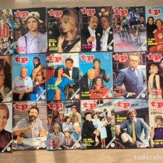Coleccionismo de Revista Teleprograma: LOTE TELEPROGRAMAS DEL 1000 AL 1029. Lote 244495375