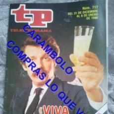 Coleccionismo de Revista Teleprograma: 717 JOSE MARIA IÑIGO TP TELEPROGRAMA REVISTA U35. Lote 246075480