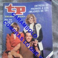 Coleccionismo de Revista Teleprograma: 679 SILVIA TORTOSA TP TELEPROGRAMA REVISTA U35. Lote 246075880