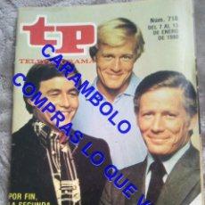 Coleccionismo de Revista Teleprograma: 718 HOMBRE RICO HOMBRE POBRE TP TELEPROGRAMA REVISTA U35. Lote 246078925