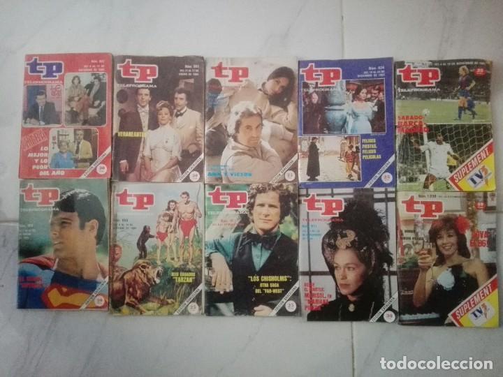 TP LOTE DE 10 REVISTAS TP TELEPROGAMA AÑOS 80 (Coleccionismo - Revistas y Periódicos Modernos (a partir de 1.940) - Revista TP ( Teleprograma ))